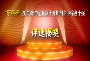 """""""东科杯""""2013年中国混凝土外加剂企业综合十强评选揭晓"""